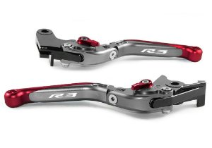 Manete Esportivo Titanium Vermelho Yamaha  Yzf R3 A Laser R3