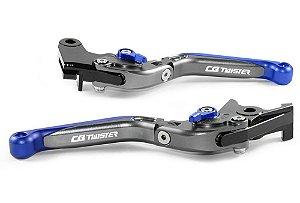Manete Esportivo Titanium Azul Honda Cb 250f A Laser