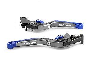 Manete Esportivo Laser Titanium Azul Honda Nx 400 Falcon
