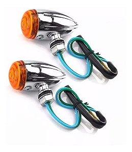 Pisca Setas Mini Bullet Universal Custom Chopper Cafe Racer