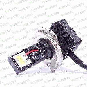 Lampada Farol Led Spencer Moto 6000k H4 H6 Tipo Xenon