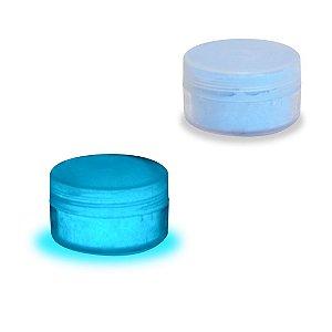 Pó Glow - Cor Azul Neon - Brilha No Escuro Sem Luz Negra