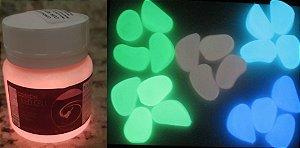 Tinta Glow Vermelho Neon + Pedra Glow - KIT promocao