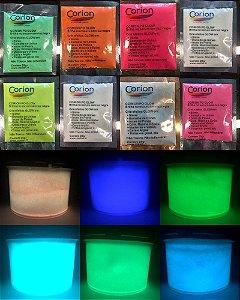 Pó Glow Corion 25gr Fosforescente Para Unha, Manicure * Divs Cores* Brilham Sem Luz Negra*