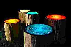 Tinta Glow Corion Fosforescente UV 900ml para Mesa River Table que Brilha No Escuro Sem Luz Negra Divs Cores