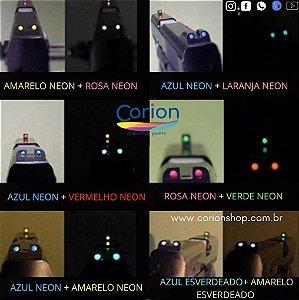 1 Pote de Tinta Glow Corion 5ml Para Alça e Maça de mira de armas - Brilha Escuro sem Luz Negra
