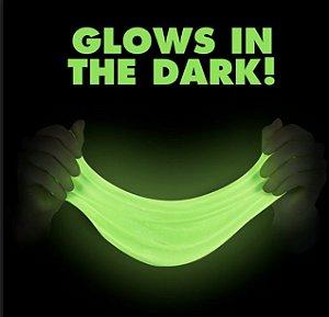 Po Glow Pacote Extra Grande 25gr Corion Fosforescente Fazer Slime Clear que Brilha no Escuro