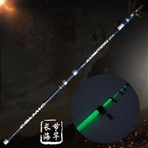Kit Vara Pesca Glow / Tinta Glow + Primer 50ml P/ Pintar Vara Pesca P/ Brilhar No Escuro