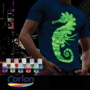 Camiseta Tinta Glow Pote 25ml Para Fazer Camiseta que Brilha no Escuro Sem Luz Negra