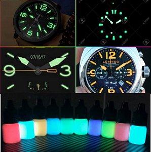Kit 5ml (c/ Aplicador) Tinta Glow Corion Pre Mixed Luminosa para pintura de ponteiro de quadrante de relogio para brilhar no escuro.