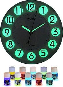 Kit 25ml Tinta Corion Glow Pre Mixed Luminosa Lumix para pintura de ponteiro de quadrante de relogio para brilhar no escuro.