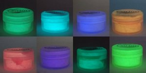 Kit 4 potes de Po GLOW Corion para fazer SLIME brilhar no escuro