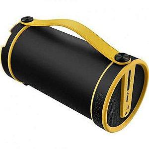 Caixa De Som Pulse Bazooka Bluetooth Preta/Amarela - 20W