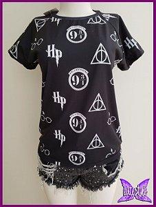 Blusa Harry Potter símbolos
