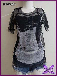 Blusa tule Guitarra