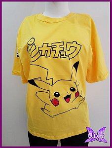 Camiseta Pikachu amarela