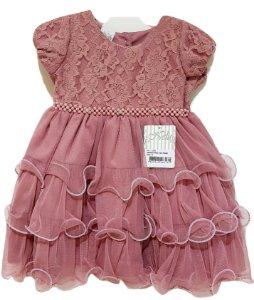 Vestido Infantil de Festa Rose - Nelu