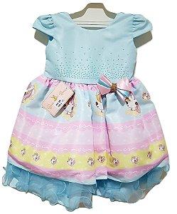 Vestido Infantil Unicórnio - Baila Nina