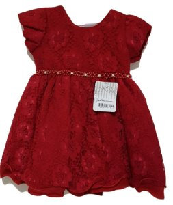 Vestido Infantil Vermelho - Nelu