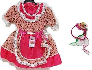 Vestido Infantil Festa Junina Salmao - Tata
