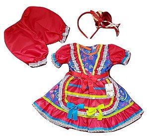 Vestido Infantil Festa Junina Tebell