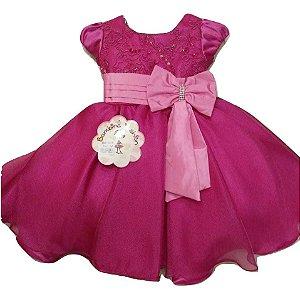 Vestido Infantil Festa Rosa Marsha Bambina
