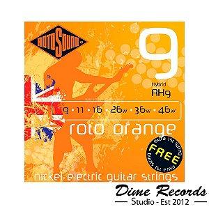 Encordoamento Rotosound Rh9 Roto Orange Encordoamento Para Guitarra Híbrida 09-Made in England