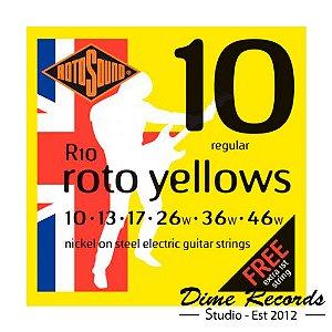 Encordoamento Guitarra 010 Rotosound R10 - Made In England