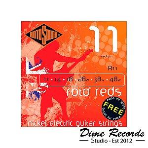 Encordoamento Rotosound R11 Roto Reds Encordoamento Para Guitarra 011 - Made in England