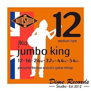Encordoamento Rotosound JK12 Jumbo King Phosphor Bronze Acoustic Strings 12-54
