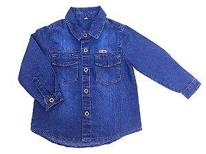 6f08dbdecc Camisa Jeans Bebê Menino - Milla Kids - Milla kids