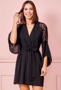 ROBE CURTO PRETO  FRUIT DE LA PASSION