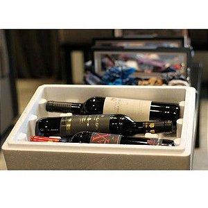 Kit Caixas térmicas para garrafas de vinho em EPS - 2 Unidades