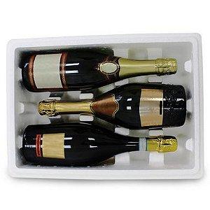 Kit Caixa térmica em EPS para garrafas de espumante - 2 Unidades