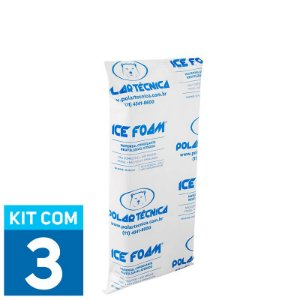 Gelo Artificial Espuma Ice Foam 500g | Kit com 3 unidades IF500