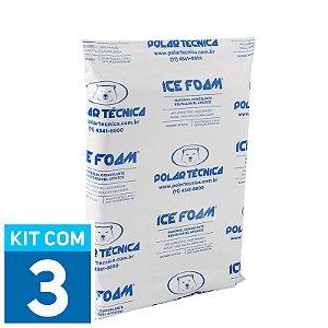 Gelo Artificial Espuma Ice Foam 1050g | Kit com 3 unidades IF1050