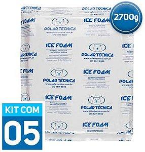 Gelo Artificial Espuma Ice Foam 2700g | Kit com 5 unidades IF2700