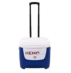 Caixa Térmica Hemo Safe 26 Litros Com Termômetro Digital Acoplado + 03 Tech Gel 750ml