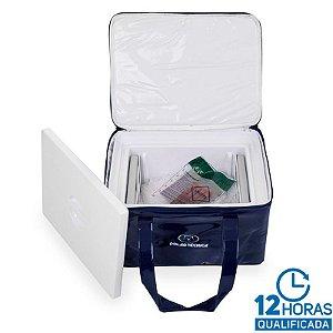 Bolsa Térmica Rígida 9 litros + 02 Gelos Tech Gel 550ml + Termômetro digital GPT133