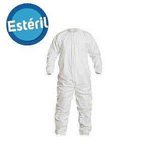 Macacão Tyvek® IsoClean® estéril simples com costura reforçada IC253B-LS