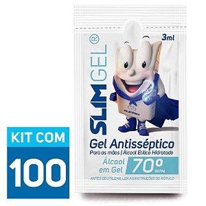Álcool Gel Antisséptico Em Sachê 3ml - A partir de 100 unidades | SLIMGEL®