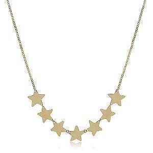 Choker Estrelas Folheada a Ouro