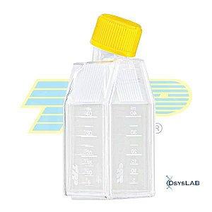 Frasco para cultura celular 25cm2 (15mL), com filtro, PS, embalagem tripla (3-B), caixa com 28 unidades mod.: 390026 (TPP)