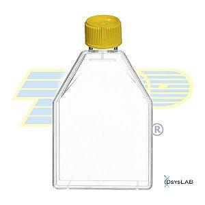 Frasco para cultura celular 150cm2 (165mL), com filtro, PS, embalagem tripla (3-B), caixa com 20 unidades mod.: 390151 (TPP)