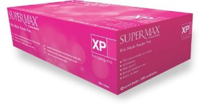 Luva Procedimento Não Cirúrgico, Não Estéril, Nitrilo, Sem Talco, Rosa, Extra-Pequeno, caixa com 100 unidades, mod.: 253130 (Supermax)