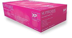 Luva para procedimento não cirúrgico, nitrilo, rosa, sem talco, médio, caixa com 100 unidades, mod.: 253120 (Supermax)