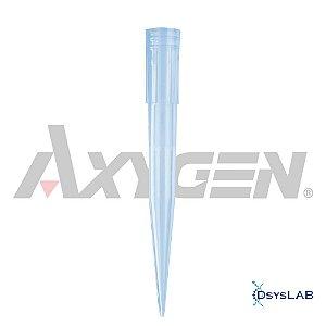 Ponteira 100-1000 uL, sem filtro, PP, azul, estéril, rack com 100 unidades, mod.: T-1000-B-R-S-RCK (Axygen)