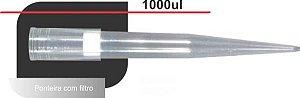 Ponteira 100-1000 uL, com Filtro, PP, transparente, rack com 96 unidades, mod.: TF-1000-R-S-RCK (Axygen)