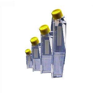 Frasco para cultivo celular, PS, com filtro, 65 mL (75 cm²), pacote com 5 unidades, mod.: 90076 (TPP)