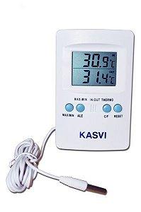 Termômetro temperatura máxima e mínima (IN/OUT)
